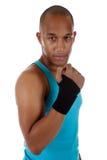 Atleta novo do homem do americano africano, enfaixado Fotos de Stock Royalty Free
