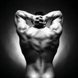Atleta nudo Immagini Stock