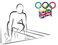 Atleta pronto para começar competir - Londres 2012 Fotos de Stock