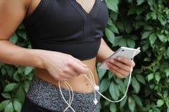 Atleta que prepara-se para o cardio- treinamento Foto de Stock