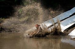 Atleta robi pluśnięciu Fotografia Stock