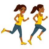 Atleta Runner Woman Immagini Stock