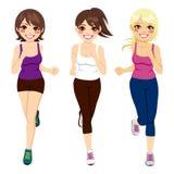 Atleta Runners das mulheres ilustração stock