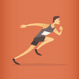 Atleta running Sprinter Sport Competition Foto de Stock Royalty Free
