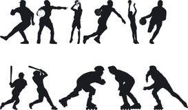 Atleta Silouettes Immagini Stock Libere da Diritti