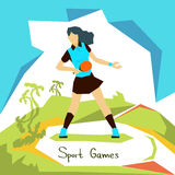 Atleta Sport Competition da mulher do tênis de mesa Fotos de Stock
