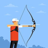 Atleta Sport Competition de Archer Fotos de Stock Royalty Free