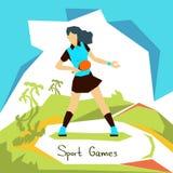 Atleta Sport Competition de la mujer de los tenis de mesa Fotos de archivo