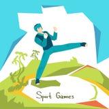 Atleta Sport Competition de Taekwondo Imagens de Stock
