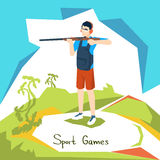 Atleta Sport Competition del tiroteo Foto de archivo