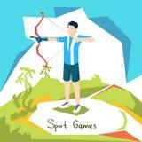 Atleta Sport Competition di Archer royalty illustrazione gratis