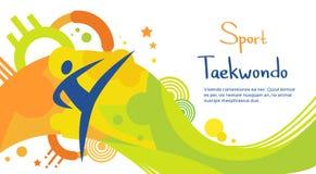 Atleta Sport Game Competition del Taekwondo Fotografía de archivo libre de regalías
