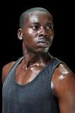 Atleta sudato intenso Immagine Stock