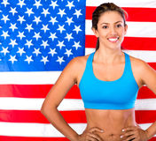 atleta usa Obraz Royalty Free