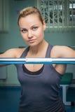 Atleta w gym zdjęcia stock
