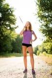 Atleta z darda portretem zdjęcia stock