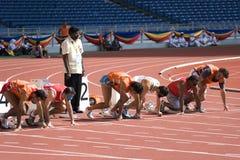 Atletas cegos Fotos de Stock