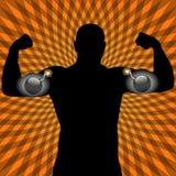 Atletas con el músculo explosivo Fotografía de archivo