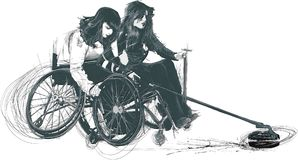 Atletas con incapacidades físicas - ENCRESPÁNDOSE libre illustration