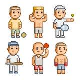 Atletas da coleção de arte do pixel Imagem de Stock