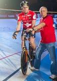 Atletas da raça do Stayer em noites Zurique de Sixay Imagem de Stock Royalty Free