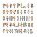 Atletas del arte del pixel y diversos deportes libre illustration