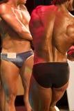 Atletas en la competición Imágenes de archivo libres de regalías