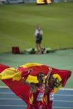 Atletas españoles Manuel Olmedo, Arturo Casado Foto de archivo libre de regalías
