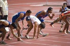 Atletas lisiados Fotos de archivo libres de regalías