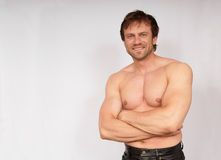 Atletas masculinos Fotos de Stock Royalty Free