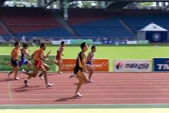 Atletas ocultos y con deficiencias visuales Imagenes de archivo