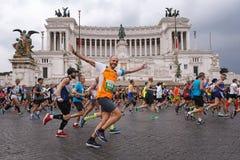 Atletas que participam na 2á maratona em Roma Foto de Stock