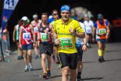 Atletas que participan en el maratón de Roma Fotografía de archivo