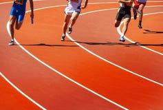 Atletas Running Foto de Stock