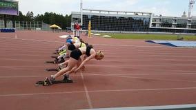Atletas Running vídeos de arquivo