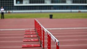 Atletas running rápidos filme