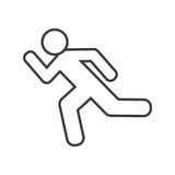 Atleten lopend silhouet geïsoleerd pictogram Stock Fotografie