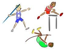Atleten (Spoor en Gebied) Royalty-vrije Stock Fotografie