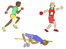 Atleten (Spoor en Gebied) Stock Foto's