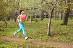 Atletenlooppas door ochtend Stock Afbeeldingen