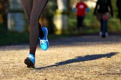 Atletenlooppas in het Park tijdens opleiding Royalty-vrije Stock Afbeelding