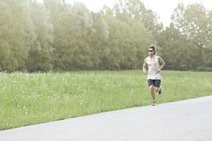 Atletenlooppas op de weg Royalty-vrije Stock Foto