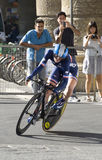 Atlethe from France. UCI road world championshi Royalty Free Stock Photos