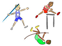 Atleti (atletica leggera) Fotografia Stock Libera da Diritti