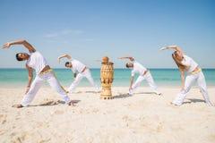 Atleti di Capoeira immagini stock