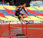 Atleti di salto della rete fissa Immagine Stock