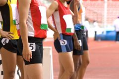 Atleti di Sprint Fotografia Stock Libera da Diritti