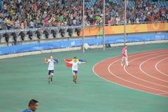 Atleti e spettatori Immagini Stock