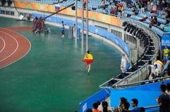 Atleti e spettatori Fotografie Stock Libere da Diritti