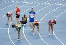 Atleti faticosi Fotografia Stock Libera da Diritti